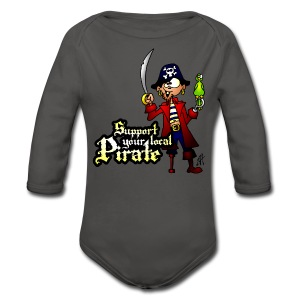Support your local Pirate rompertje - Baby body met lange mouw