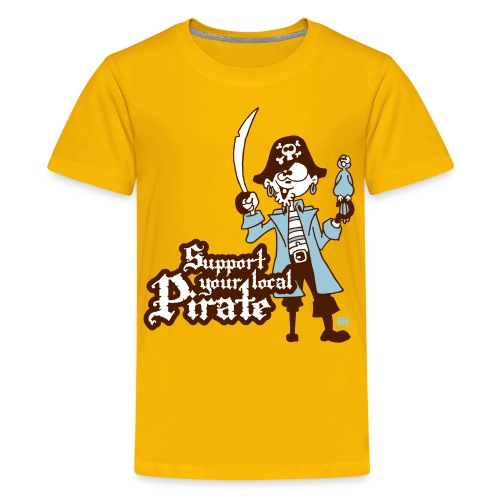 Support your local Pirate T-shirts - Teenage Premium T-Shirt