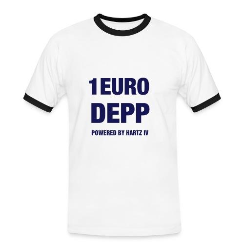 EinEuroDepp - Männer Kontrast-T-Shirt