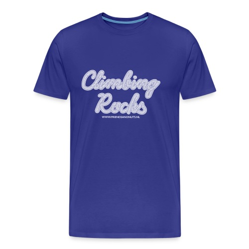 Climbing Rocks! White (Men) - Mannen Premium T-shirt