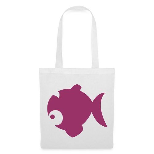 Red Glitter Oops-fish Tote - Tote Bag