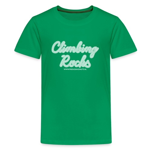 Climbing Rocks! White (Teenager) - Teenager Premium T-shirt