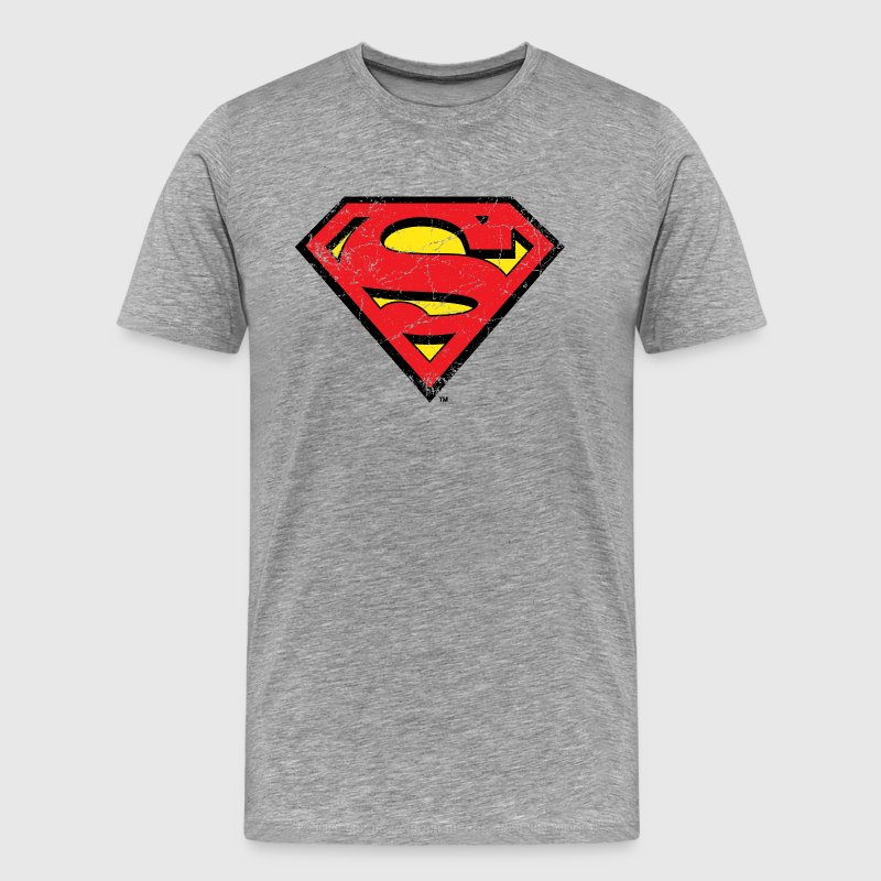 Superman S-Shield Used Look 1 Mannen T-Shirt - Mannen Premium T-shirt