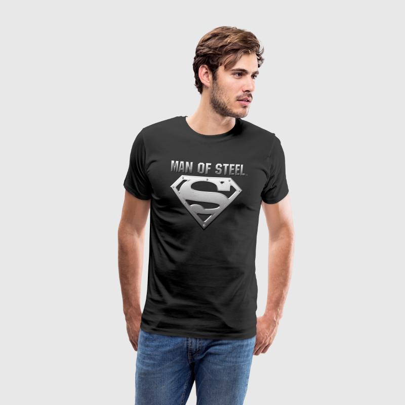 Superman S-Shield Steel Look Männer T-Shirt - Männer Premium T-Shirt