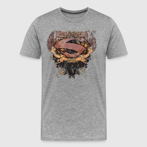 Superman S-Shield Man of Steel herre-T-shirt - Herre premium T-shirt