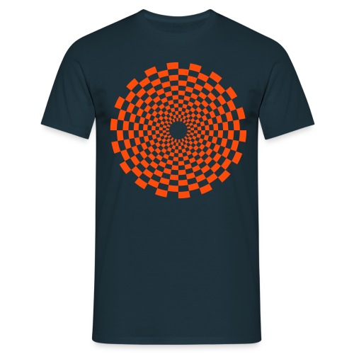 Psychedelic Circle ornage - Männer T-Shirt
