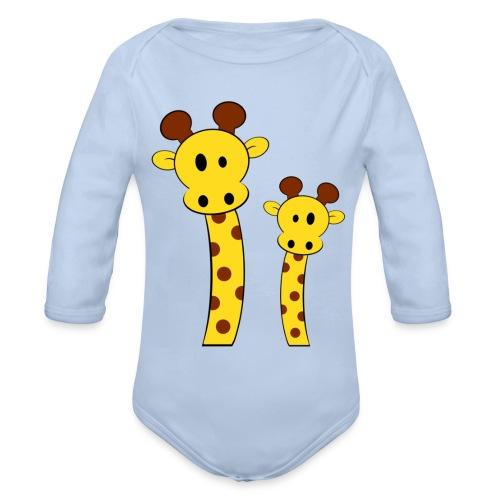 Body bébé girafes - Body bébé bio manches longues
