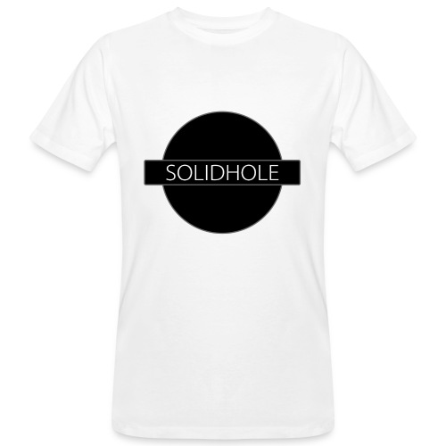 Solid Hole Front - Men's Organic T-Shirt