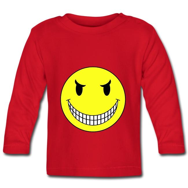 T shirt bébé smiley sadique