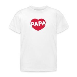 PAPA Herz - Kinder T-Shirt