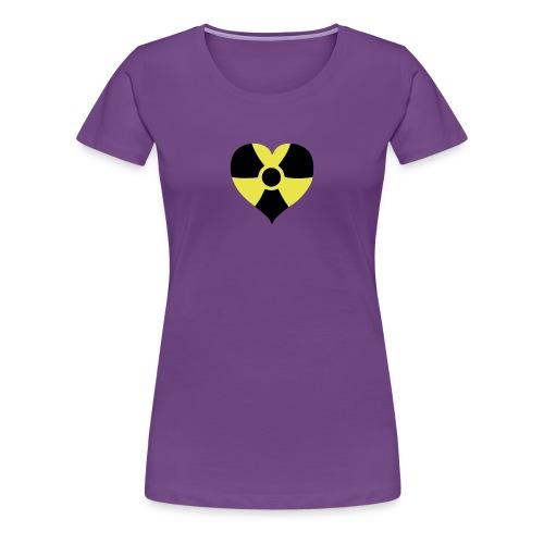 Naisille sööttiä ydinsydänpaitaa päälle! - Naisten premium t-paita
