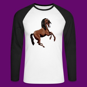 CHEVAL CABRE CRÉATION LOUIS RUNEMBERG - T-shirt baseball manches longues Homme