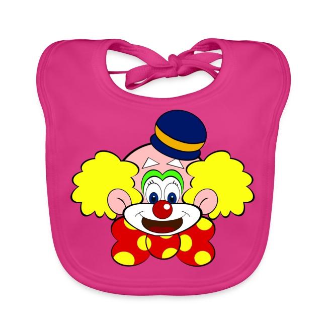 Bavoir bébé clown