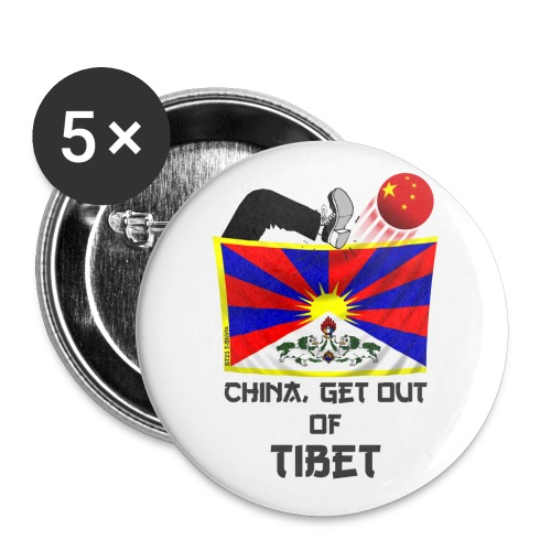 China out of Tibet - Spilla grande 56 mm