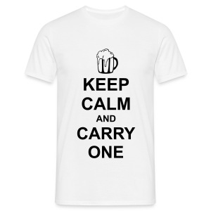 Keep Calm and Carry One (Beer) - Men's T-Shirt