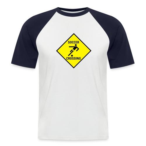 Soccer Crossing - Männer Baseball-T-Shirt
