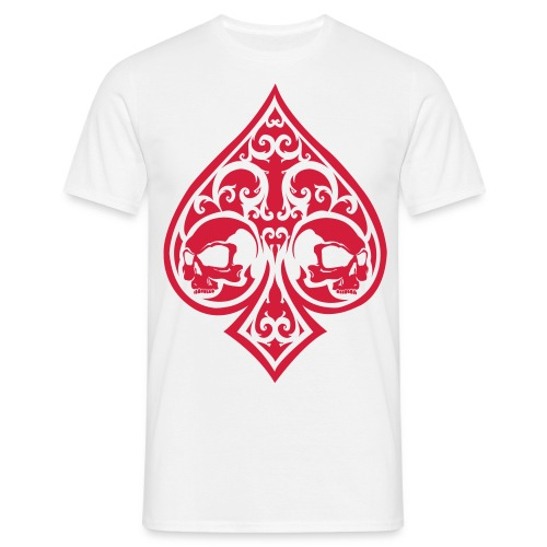 Ace of Spades Men's shirt - white/red - Men's T-Shirt