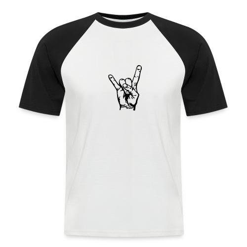 SMILEY - Kortermet baseball skjorte for menn
