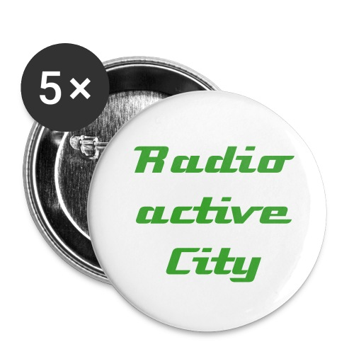 Radioactive City Stecker - Buttons klein 25 mm