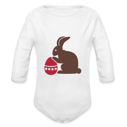 Easter Bunny baby onesie - Organic Longsleeve Baby Bodysuit