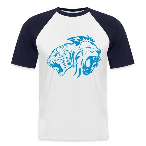 leopard et lion tribal - T-shirt baseball manches courtes Homme