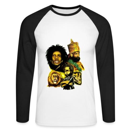 Jah - T-shirt baseball manches longues Homme