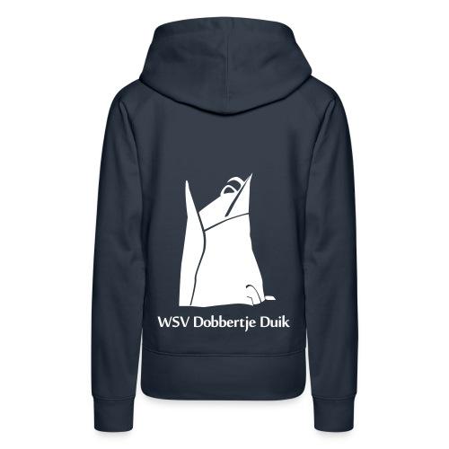 Sweater Vrouw (Wit logo) - Vrouwen Premium hoodie