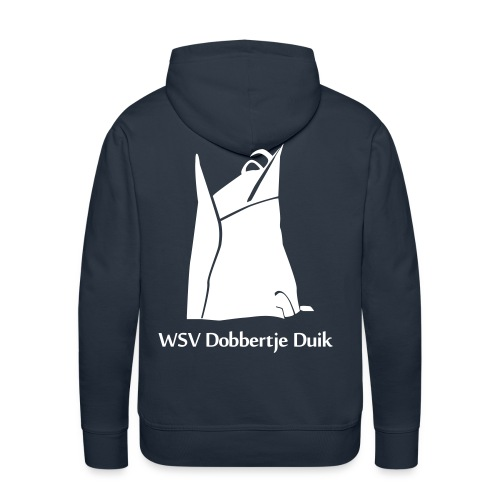 Sweater Man (Wit logo) - Mannen Premium hoodie