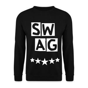 BANANA SWAG BLACK WHITE  - Men's Sweatshirt