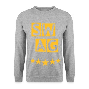 BANANA SWAG GREY YELLOW - Men's Sweatshirt