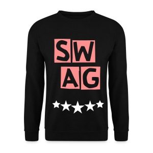 BANANA SWAG BLACK WHITE RED/ORANGE - Men's Sweatshirt