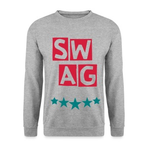 BANANA SWAG GREY GREEN RED - Men's Sweatshirt