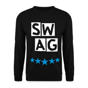 BANANA SWAG BLACK WHITE BLUE  - Men's Sweatshirt