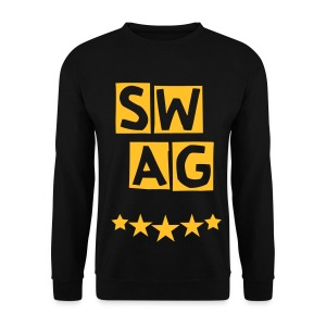 BANANA SWAG BLACK ORANGE MIX YELLOW * - Men's Sweatshirt