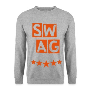 BANANA SWAG GREY ORANGE  - Men's Sweatshirt