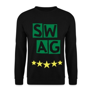 BANANA SWAG BLACK GREEN YELLOW  - Men's Sweatshirt