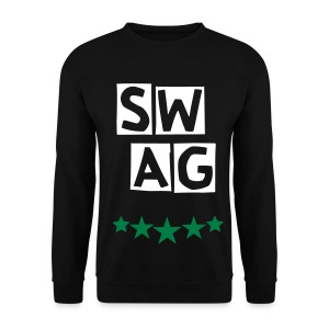 BANANA SWAG BLACK WHITE GREEN EXCLUSIVE * - Men's Sweatshirt