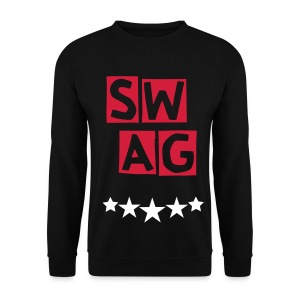 BANANA SWAG BLACK WHITE RED   - Men's Sweatshirt