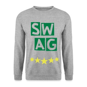BANANA SWAG GREY GREEN YELLOW - Men's Sweatshirt