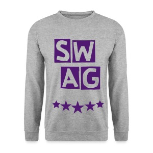BANANA SWAG GREY PURPLE - Men's Sweatshirt
