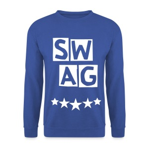 BANANA SWAG BLUE WHITE - Men's Sweatshirt