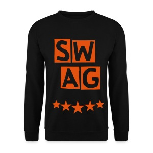 BANANA SWAG BLACK ORANGE - Men's Sweatshirt
