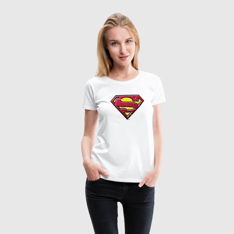 Superman S-Shield Used Look 2 dame- T-shirt - Dame premium T-shirt