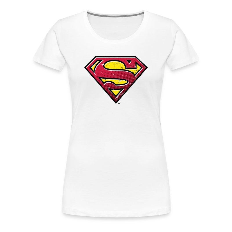 tee shirt tee shirt femme superman s shield vintage 2. Black Bedroom Furniture Sets. Home Design Ideas