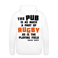 Hoodies & Sweatshirts ~ Men's Premium Hoodie ~ The Pub is a Part of Rugby