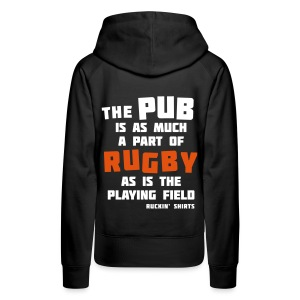 The Pub is a Part of Rugby - Women's Premium Hoodie