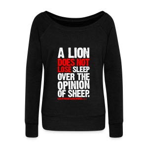 A lion does not lose | Womens jumper - Women's Boat Neck Long Sleeve Top