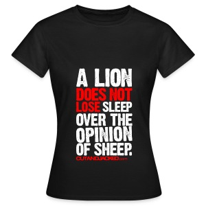 A lion does not lose | Womens tee - Women's T-Shirt