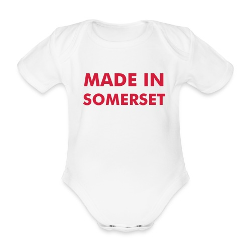 Made in Somerset - Baby Vest - Organic Short-sleeved Baby Bodysuit