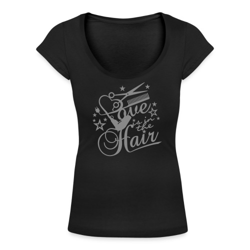 Love is in the hair - Frauen T-Shirt mit U-Ausschnitt